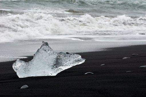 Ice, Beach, Coast, Frozen, Sand, Seashore, Sea, Ocean