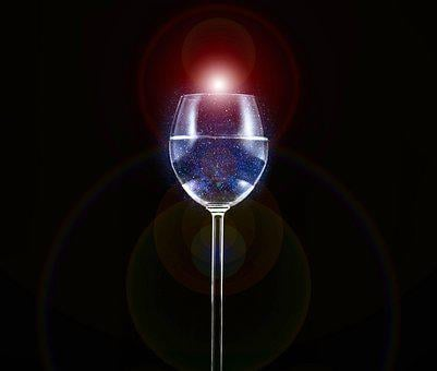 Glass, Wine, Planet, Alcohol, Isolated, Earth, Crystal