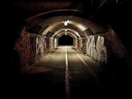 Tunnel, Graffiti, Street Art, Old, Abandoned, Empty