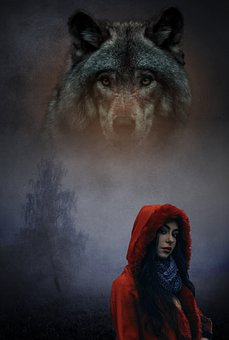 Girl, Wolf, Fantasy, Adventure, Expensive, Red, Magic
