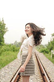 Girl, Asian, Model, Portrait, Young Woman, Fashion