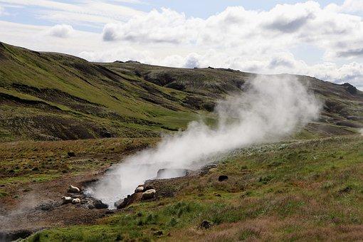 Geysir, Hot Spring, Iceland, Steam, Geothermal Energy