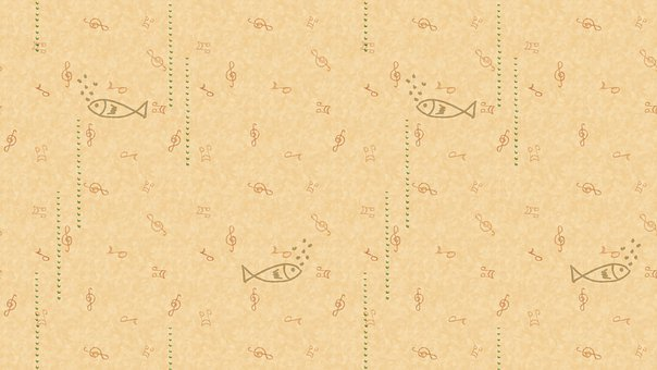Fish, Music, Doodle, Pattern, Background, Hand Drawn