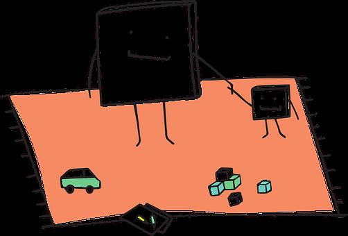 Pixel Cells, Child, Play Mat, Parent, Kid, Toys