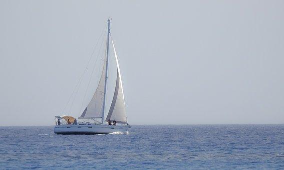 Sailboat, Sea, Horizon, Yacht, Sailing, Boat, Sail