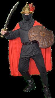 Warrior, Man, Cosplay, Sword, Shield, Fantasy, Costume