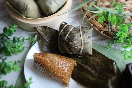 Chinese Sticky Rice Dumpling, Food, Dish, Zongzi, Snack