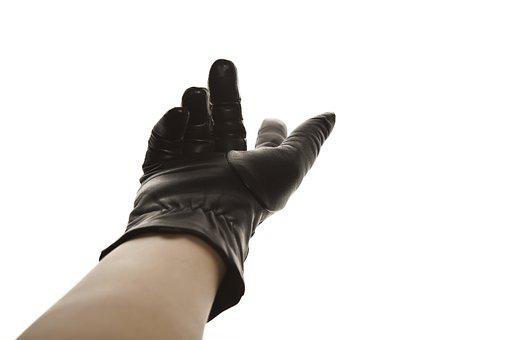 Glove, Hand, Black, Fingers, Leather, Leather Glove