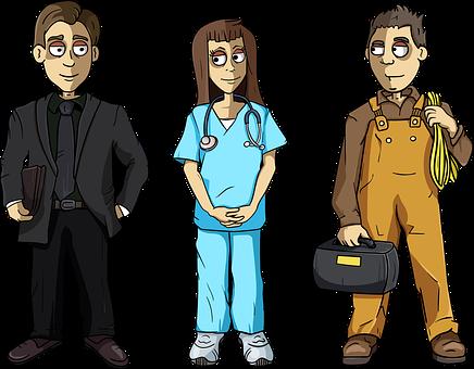 Businessman, Nurse, Repairman, Worker, Career