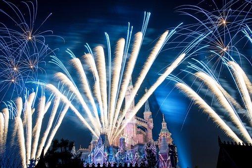 Disney, Castle, Shanghai, Fireworks, Disneyland