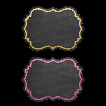 Labels, Chalkboard, Glitters, Frame, Blackboard