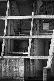 Building, Old, Dam, Concrete, Wall, Pattern, Decay