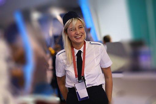 Girl, Smile, Employee, Portrait, Uniform, Woman, Young
