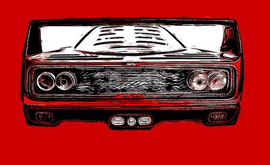 Ferrari F40, Car, Red Car, F40, Race Car, Sports Car