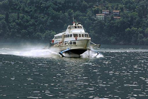 Hydrofoil, Boat, Ship, Speed, Passenger Transport