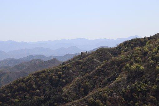 Scene, Valley, Mountains, Peaks, Sky, Ridge, Ridge Line