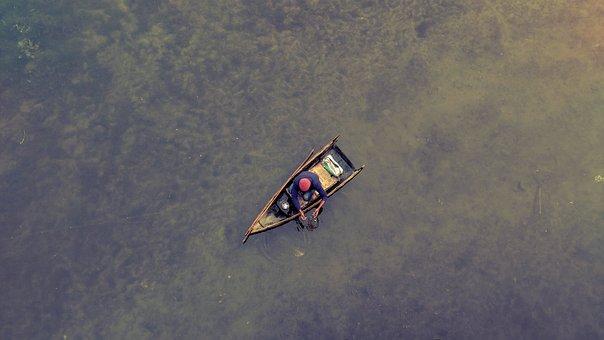 River, Boat, Water, Fisherman, Rowing Boat, Small Boat