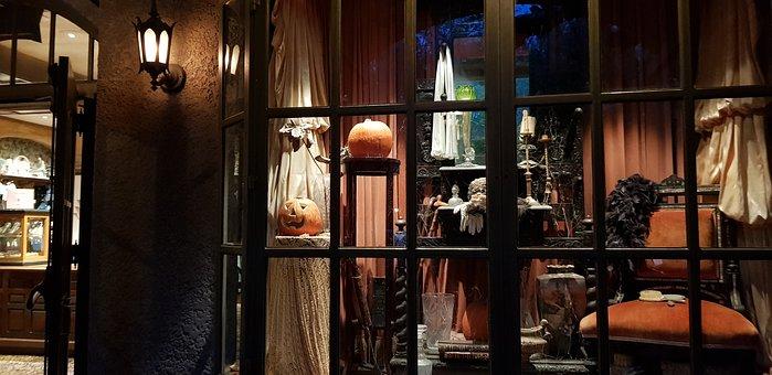 Halloween, Decoración, Ventana