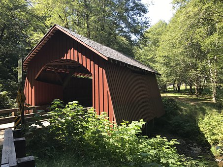 Covered Bridge, Wooden Bridge, Yachats, Bridge