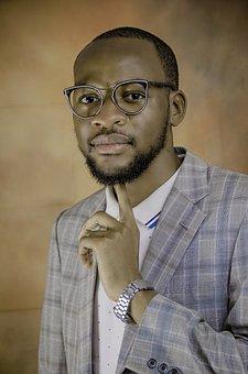 Black Man, Man, Portrait, African, Glasses, Eyeglasses