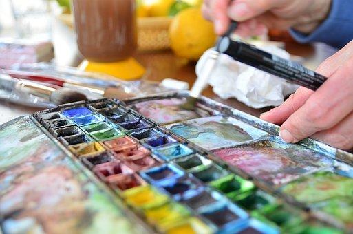 Watercolor, Paint, Art, Color Palette, Color, Drawing