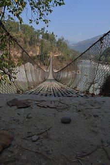 Bridge, Mountains, Park, Hanging Bridge, Nature
