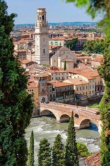 Verona, City, River, Bridge, Old Town, Buildings