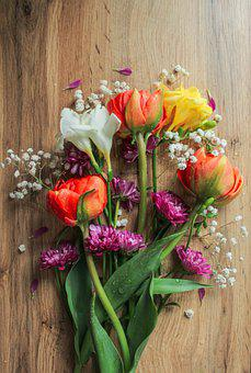 Bunch Of Flowers, Flower, Different Flowers