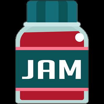 Jam, Bread, Spread, Strawberries, Coffee, Snack