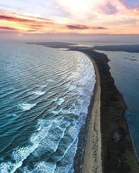 Beach, Sunset, Ocean, Sky, Dusk, Sun, Sunrise, Coast