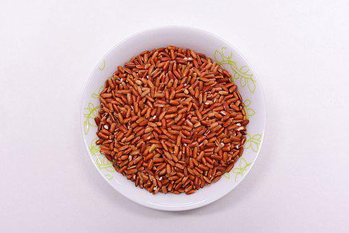 Food, Red Glutinous Rice, Dry, Cereals, Grains, Rice