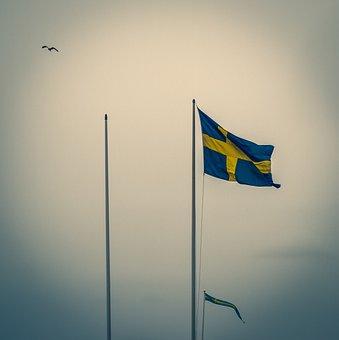 Sverige, Flag, Nation, History, Sky, Blue