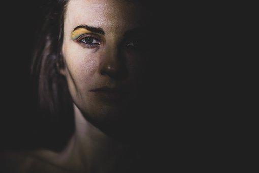 Woman, Light, Portrait, Dark, Face, Head, Eyes, Beauty