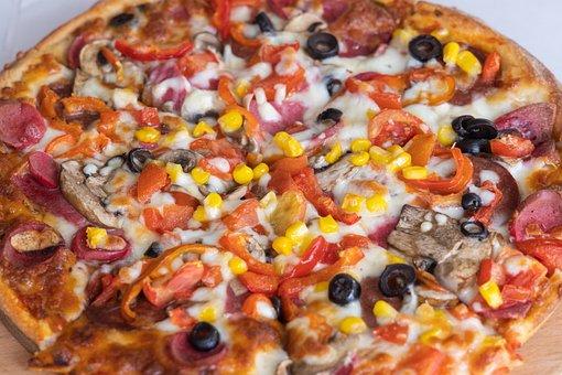 Pizza, Slice, Mozzarella, Flour, Meat