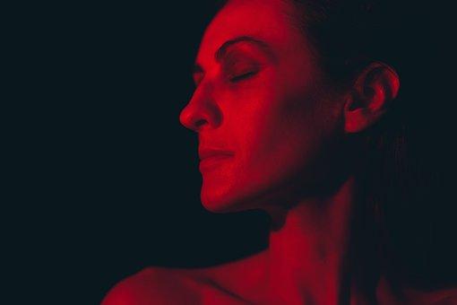Woman, Light, Portrait, Dark, Profile