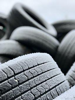 Car Tires, Waste, Old, Recycling, Rubber, Tires