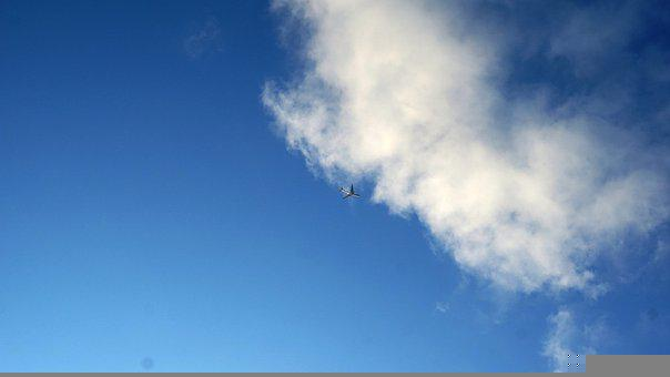 Sky, Airplane, Flying, Clouds, Plane, Aircraft, Flight