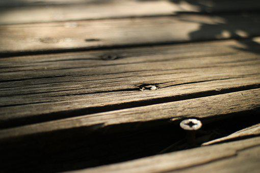 Wood, Planks, Nails, Bench, Wooden, Texture, Closeup