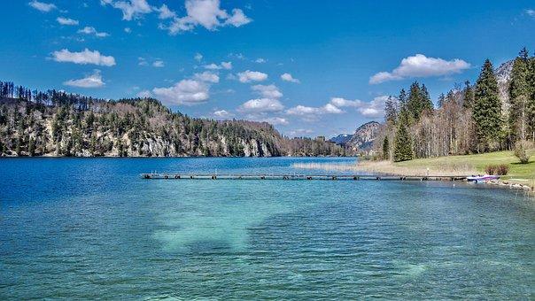 Blue Lake, Mountain, Alps, Blue Lagoon, Landscape
