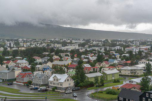 Iceland, Akureyri, Mountains, Nature, Landscape, Clouds