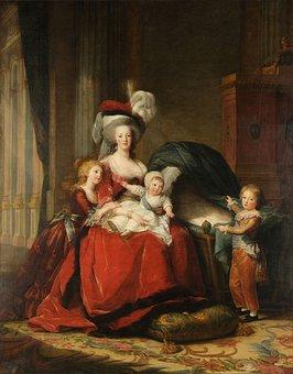 Marie Antoinette And Her Children, Painting, Art