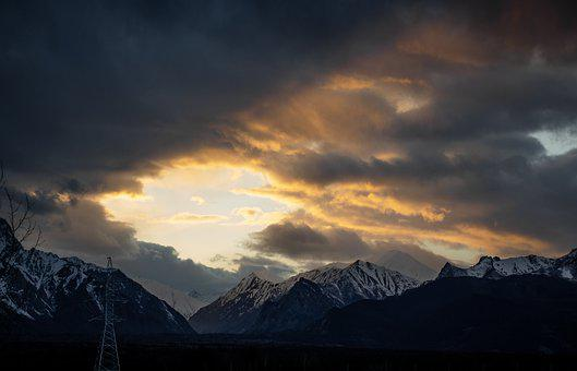 Sky, Mountain, Sunset, Landscape, Sunrise, Nature