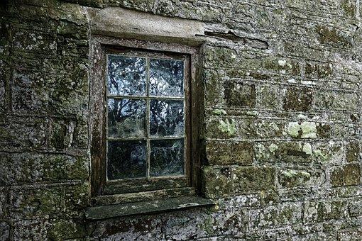 Window, Old, Decay, Ruin, Rustic, Patina, Pane, Stone