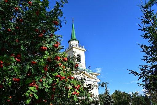 Autumn, Temple, Sky, Nature, Landscape, Leaves
