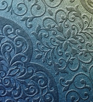 Print, Floral, Texture, High Relief, Abstract