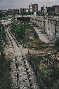 Railway, Urban, City, Tunnel, Railroad, Rail Tracks