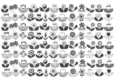 Floral Doodles, Zentangle, Floral, Mandala, Drawing