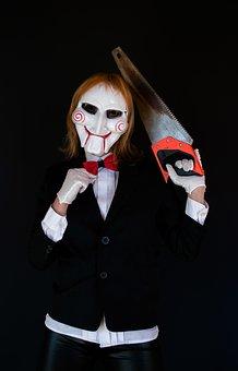 Saw, Halloween, Cosplay, Mask, Horror Movie, Billy Doll