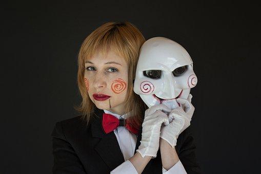 Saw, Halloween, Cosplay, Mask, Makeup, Horror Movie