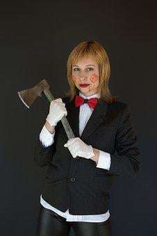 Saw, Halloween, Cosplay, Axe, Makeup, Horror Movie